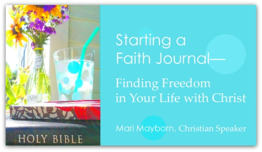 Click here to watch Faith Journal video