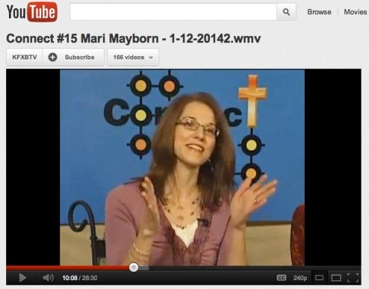 "Mari on Ramona Wink's program ""Connect"""